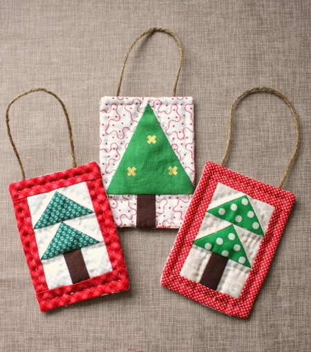 Quilted Tree Ornaments Are So Easy To Make Quilting Digest
