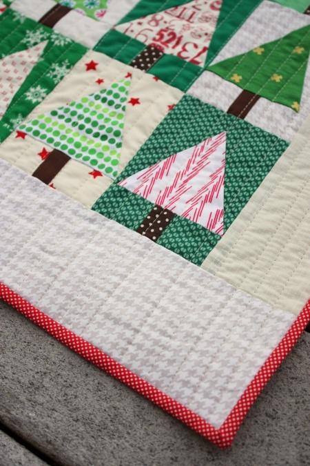 Patchwork Trees Mini Quilt Tutorial