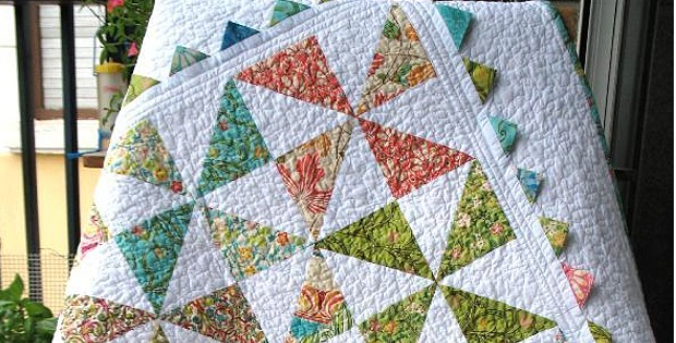Pinwheel Quilt with Prairie Points is Oh So Charming - Quilting Digest : pinwheel quilt - Adamdwight.com