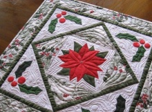 Poinsettia Table Topper Trio Pattern