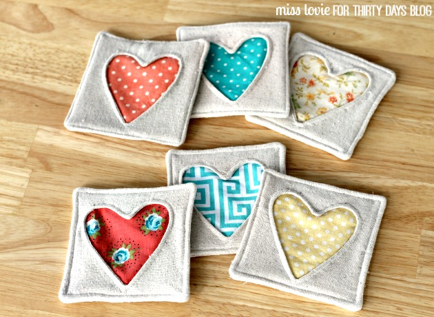 Charming heart coasters are fun to make quilting digest