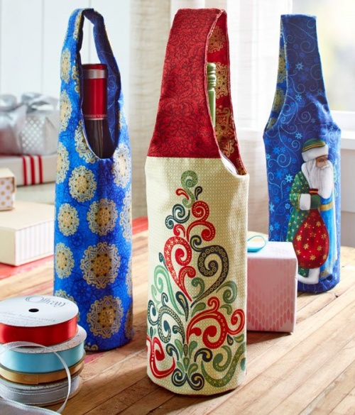 Two Wine Totes and a Koozie for Home and Gift Giving ...