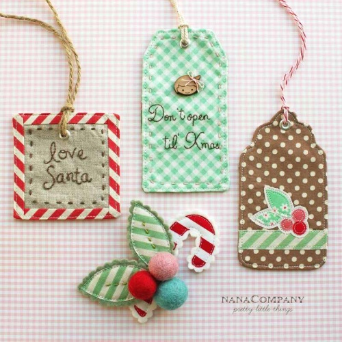 Fabric Gift Tags