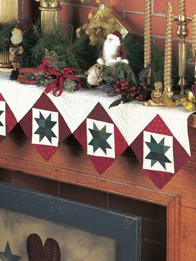 Fireside Stars Mantel Quilt