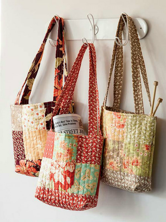 3 Times the Charm Tote Bag Pattern