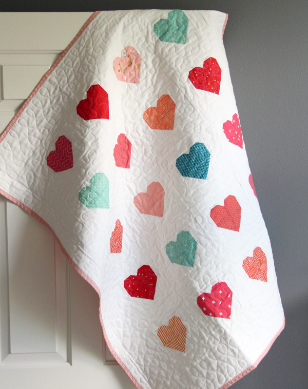 Simple Hearts Quilt Tutorial