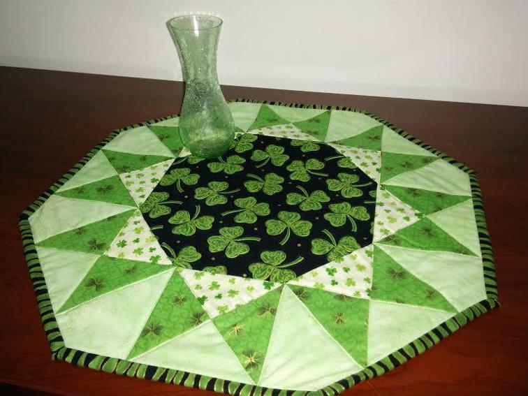 Sunburst Table Topper for St. Patrick's Day