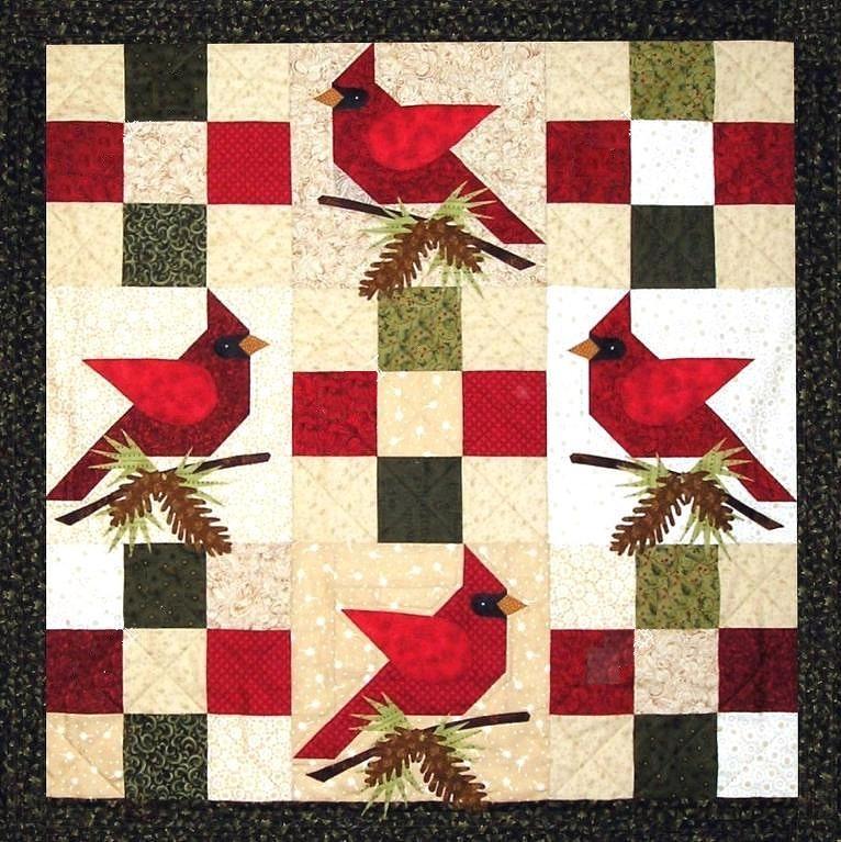 Winter Cardinals Quilt