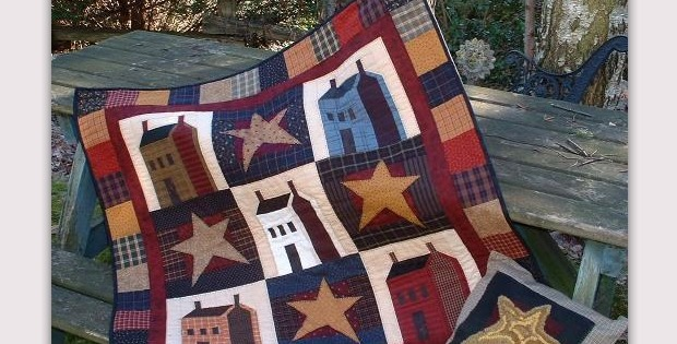 Country Cabins Wall Quilt