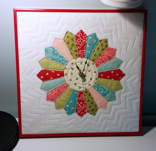 make a clock from a quilt block quilting digest. Black Bedroom Furniture Sets. Home Design Ideas
