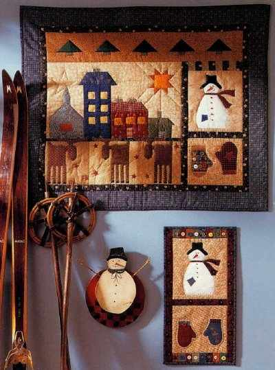 Quilted Folk Art Wall Hangings Celebrate the Season - Quilting Digest