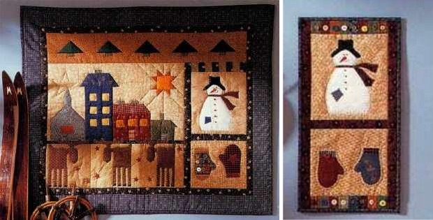 Quilted Folk Art Wall Hangings Celebrate the Season - Quilting Digest : quilted wall hangings - Adamdwight.com