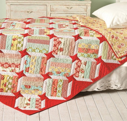 """<p style=""""background: none repeat scroll 0 0 #ff9; clear: both; margin-bottom: 18px; overflow: hidden; border: 1px solid #e5e597; padding: 13px;"""">Click here to purchase the """"Emma's Star II"""" quilt pattern.</p>"""