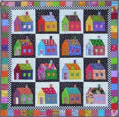 Scrappy Neighborhood Quilt