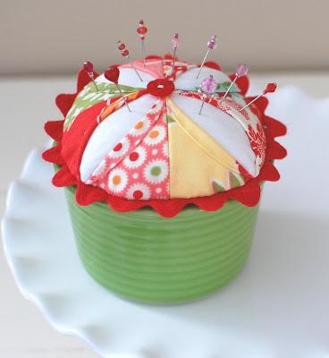 Cotton Way Cupcake Pincushion