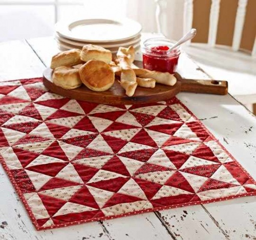Red and White Table Topper