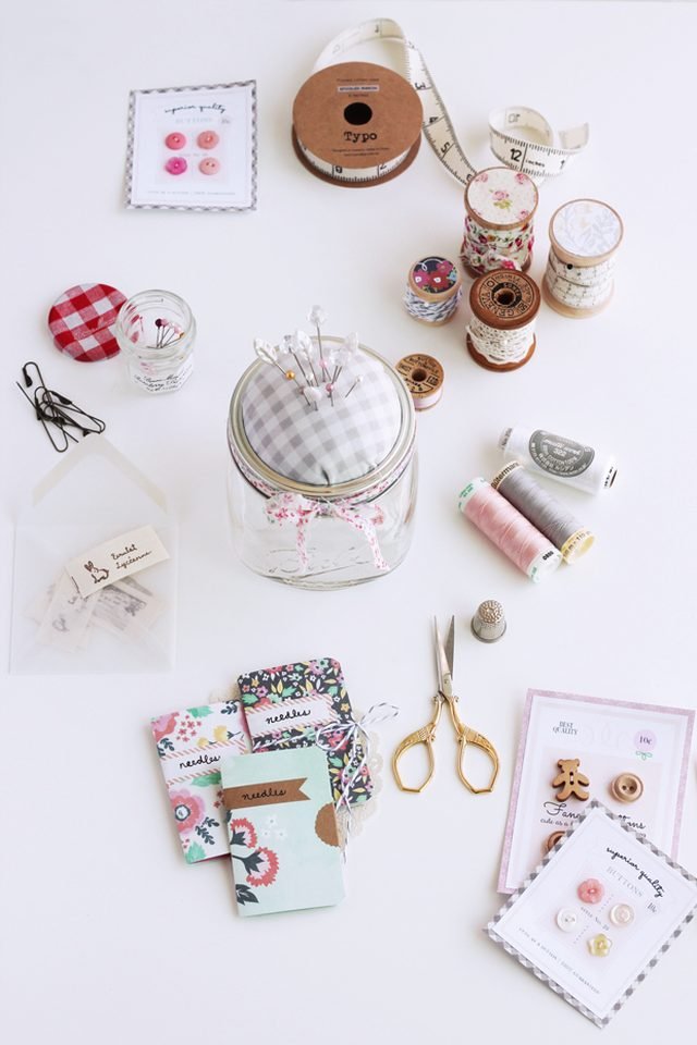 Mason Jar Pincushion Sewing Kit