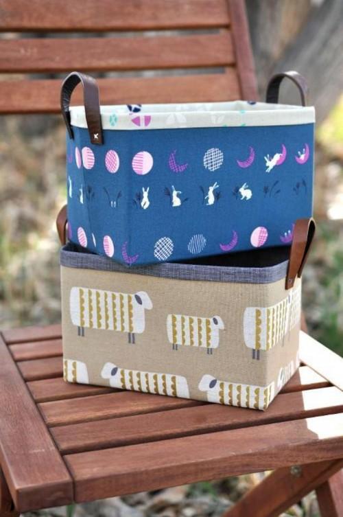 Sturdy Fabric Baskets