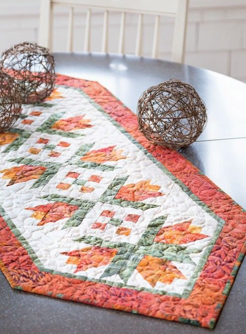 Orange City Tulips Table Runner