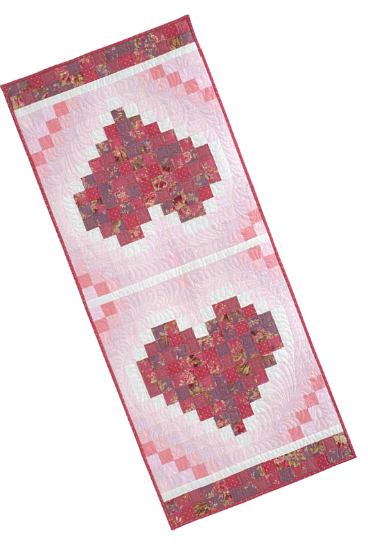 Two Hearts Table Runner Pattern