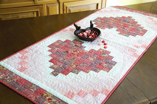 Two Hearts Table Runner