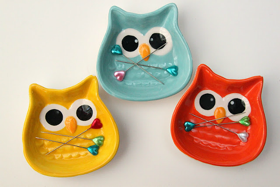 Owl Magnetic Pin Dishes
