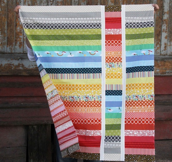 Rainbow Strip and Flip Quilt Tutorial