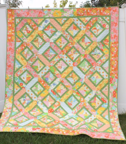 Vintage-Sheet Inspired Quilt