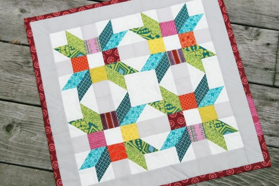 Learn A New Block With This Cheerful Mini Quilt Quilting