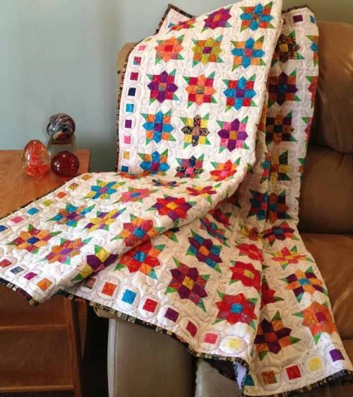 Flowers Squared Quilt