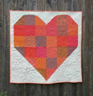 Red Patchwork Heart