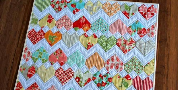Little Quilt Of Love.A Sweet Little Quilt For Someone Special Quilting Digest