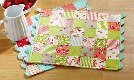 Patchwork Placemats with RickRack