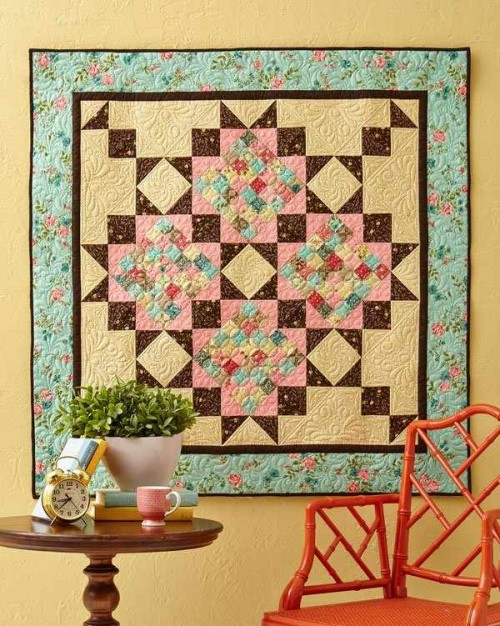 Pull Together Scraps with a Great Border and Dark Accents - Quilting Digest