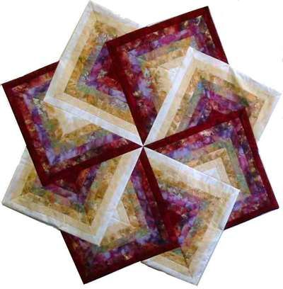Quilt Patterns Strata Star : Spinning Star Table Topper - Quilting Digest