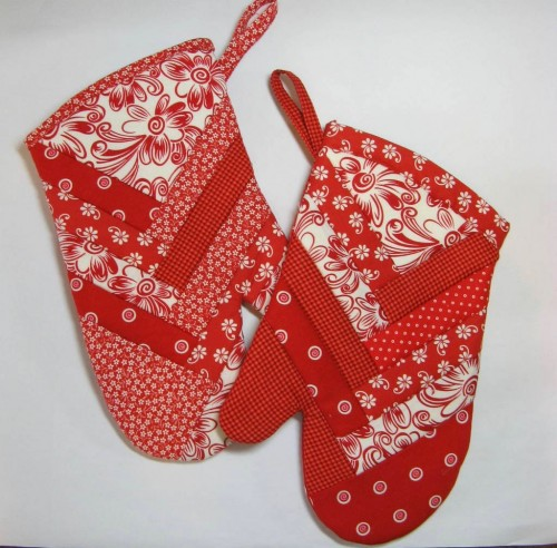 French Braid Oven Mitts