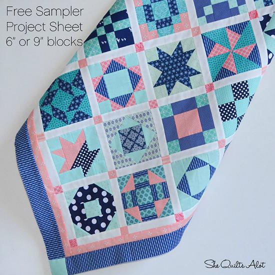 Easy Sampler Quilt Pattern