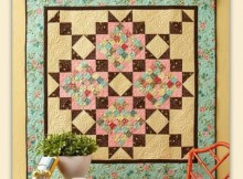 A Scrappy Romance Wall Quilt