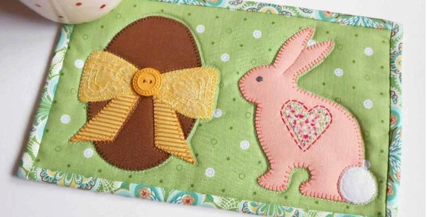 Bunny And Egg Mug Rug Is Made For Easter Quilting Digest