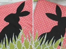Bunny Silhouette Pot Holders