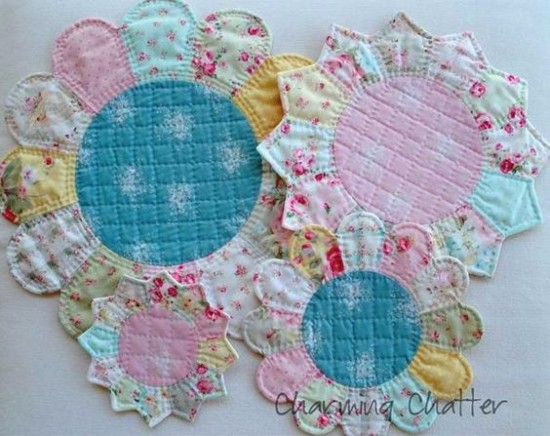 Dresden Plate and Petal Trivets