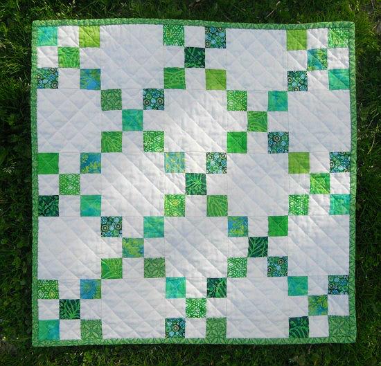 Single Irish Chain Mini Quilt