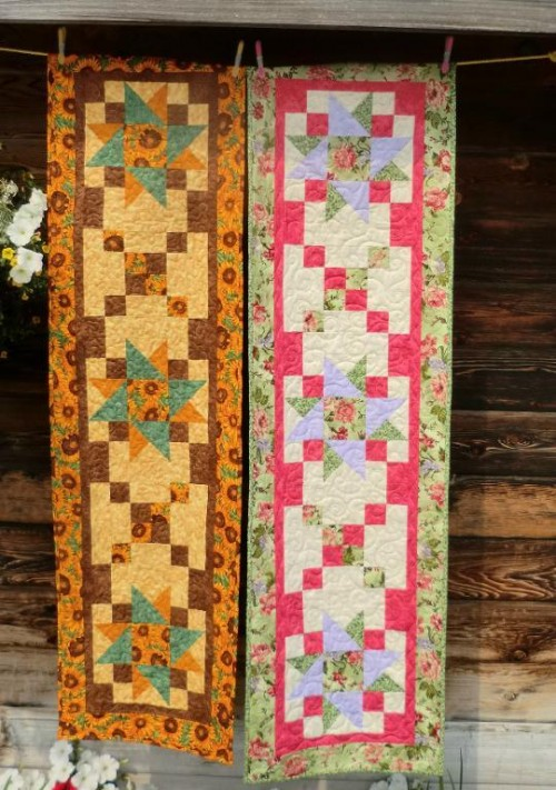 Large Shooting Stars Runner Has Many Uses - Quilting Digest