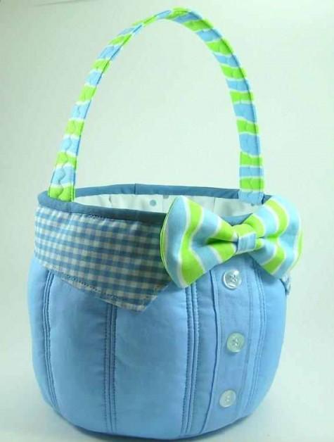 Bow Tie Fabric Basket