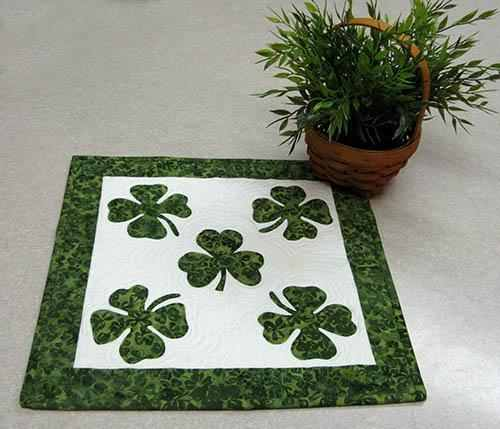 Shamrock Table Topper
