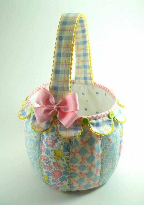 Scallop Fabric Basket
