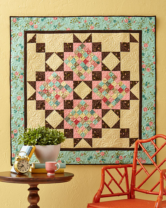 A Scrappy Romance Wall Quilt Pattern