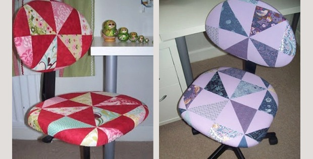 Admirable Give Your Sewing Chair A Quilty Cover Quilting Digest Machost Co Dining Chair Design Ideas Machostcouk