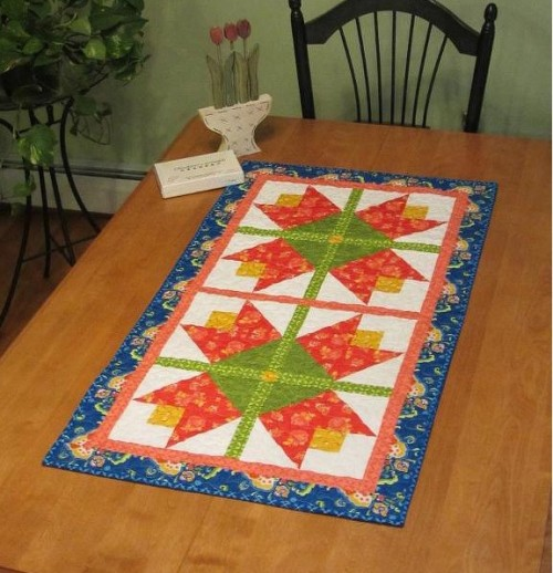 Tiptoe Tulips Table Runner