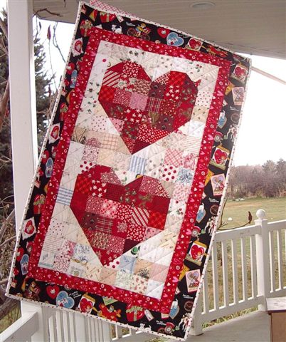 A Heart Banner For Valentine S And More Quilting Digest